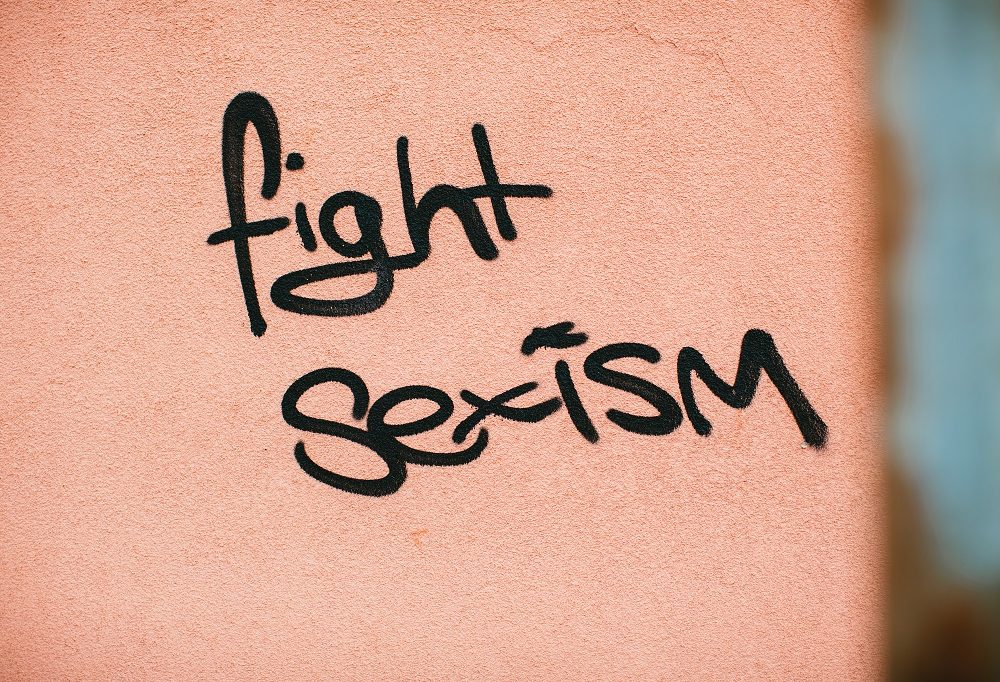 Fight sexism written on the wall.
